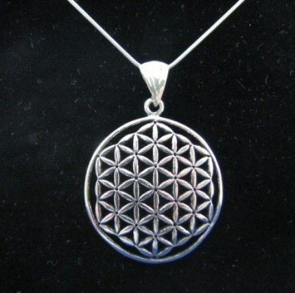 Sterling silver real authentic flower of life pendant and chain flower of life pendant mozeypictures Gallery