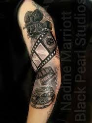 Music Tattoo Google Search Camera Tattoos Movie Tattoos Camera Film Tattoo