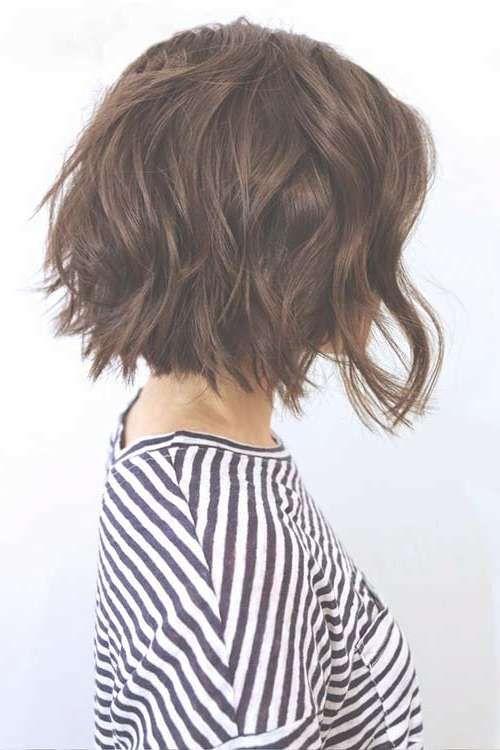 Explore Gallery Of Layered Bob Haircuts For Thick Wavy Hair 5 Of 15 Bob Hairstyles For Thick Textured Haircut Wavy Bob Haircuts