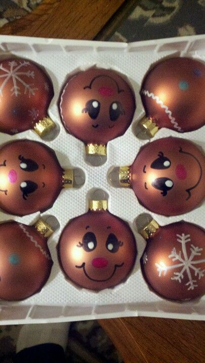 Some plain ornaments n sharpie paint pens! Super easy! Great idea for  custom gifts! Endless possibilities! - Some Plain Ornaments N Sharpie Paint Pens! Super Easy! Great Idea