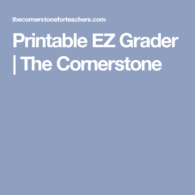 image about Ez Grader Printable known as Printable EZ Grader Grading Tasks Looking at