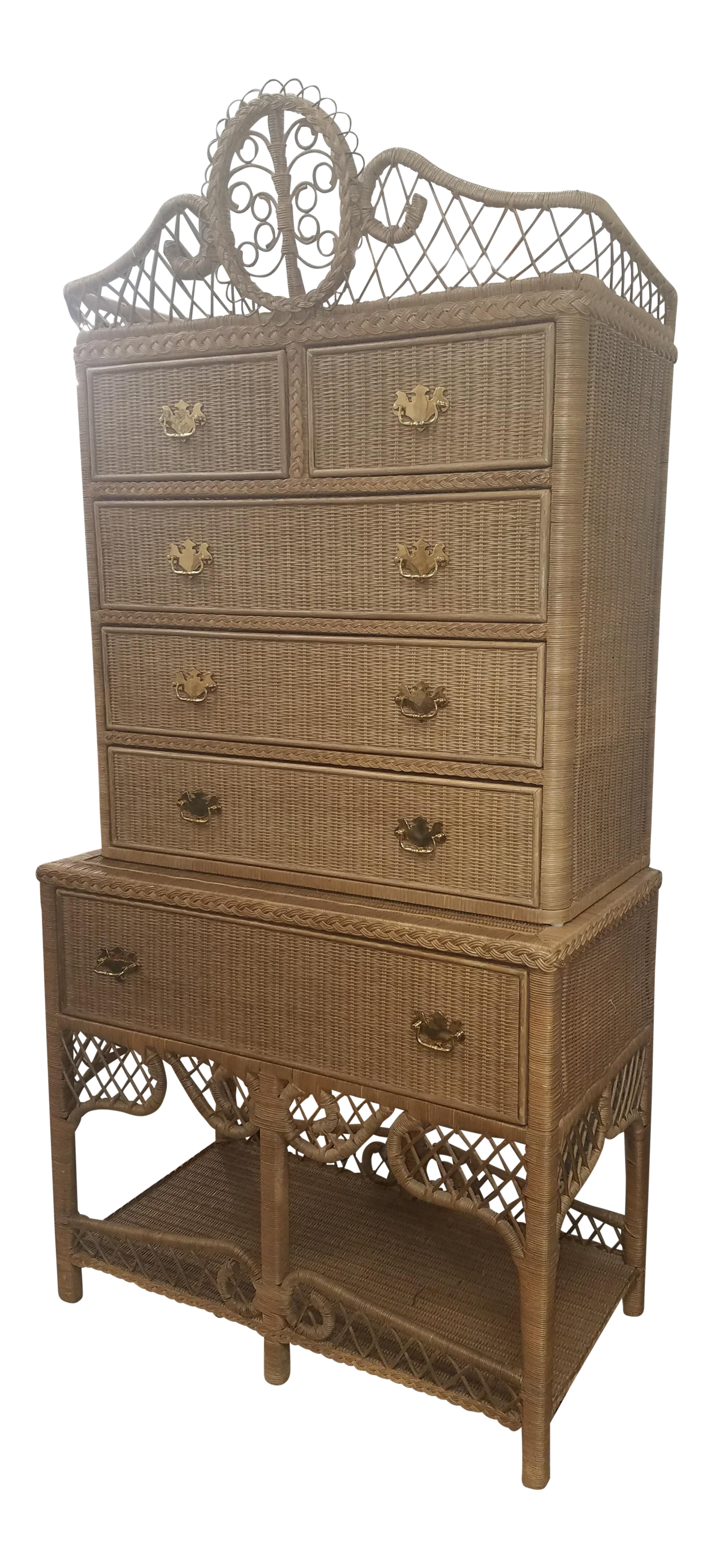 Merveilleux Vintage Ralph Lauren Safari Wicker Highboy On Chairish.com Wicker, Safari, Ralph  Lauren