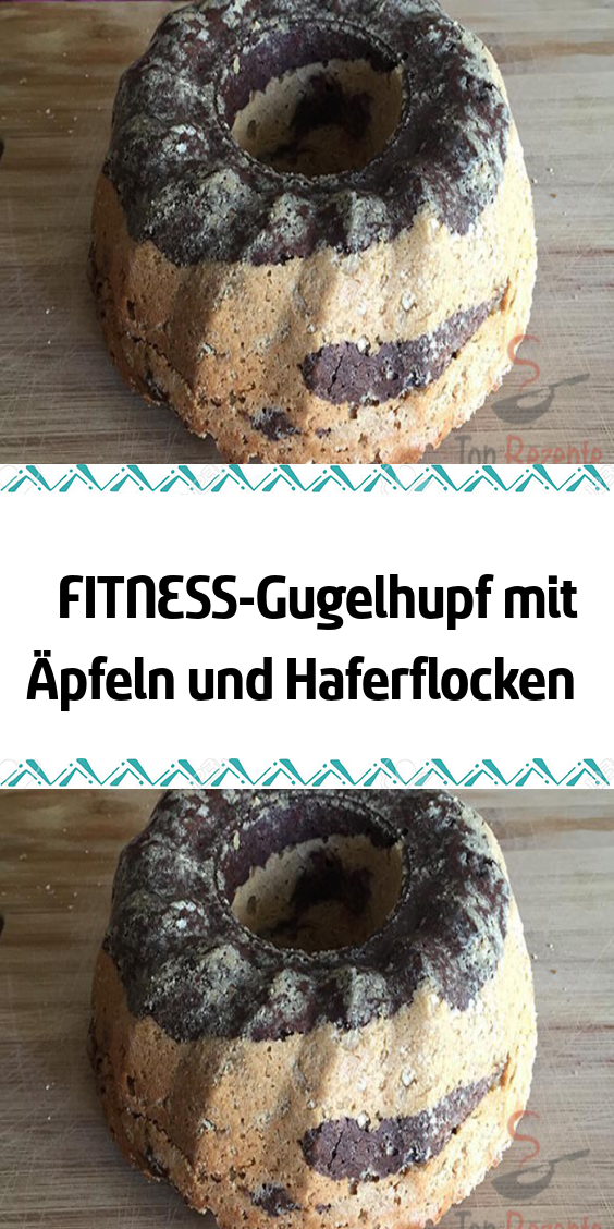 FITNESS ring cake with apples and oatmeal -  A delicious healthy and simple ring cake for everyone w...