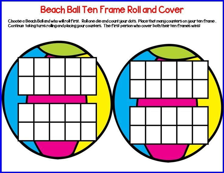 Seasonal Ten Frame Roll & Cover | Ten frames, Math facts and Game cards