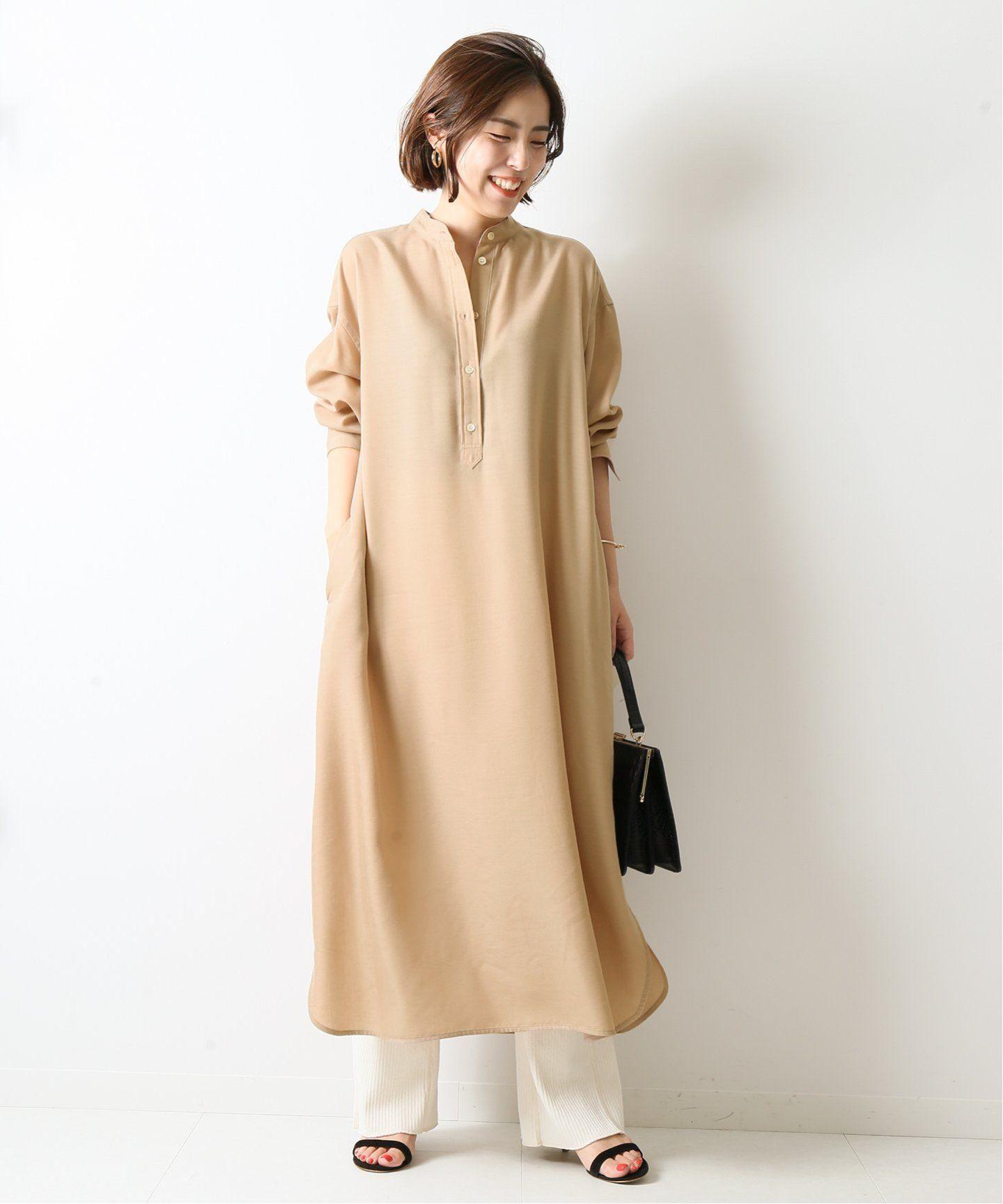 バンドカラーワンピース spick and span スピック スパン 公式のファッション通販 19040200305030 baycrew s store ファッション ファッションアイデア ワンピース