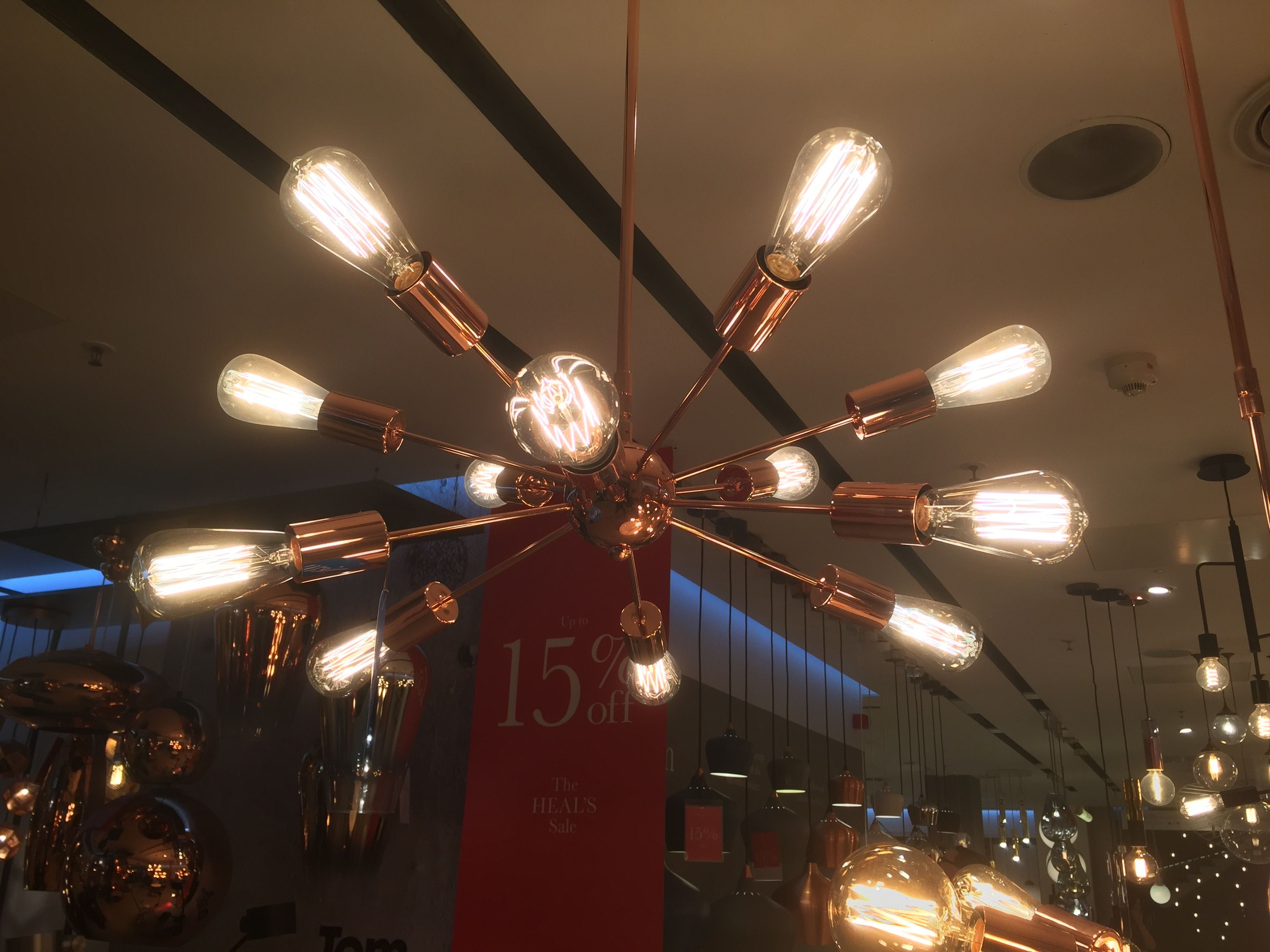 Mega junction chandelier copper price 479 anka renovation designed in denmark and exclusive to heals in the uk the mega junction chandelier is a true statement piece of lighting in keeping with our best selling arubaitofo Images