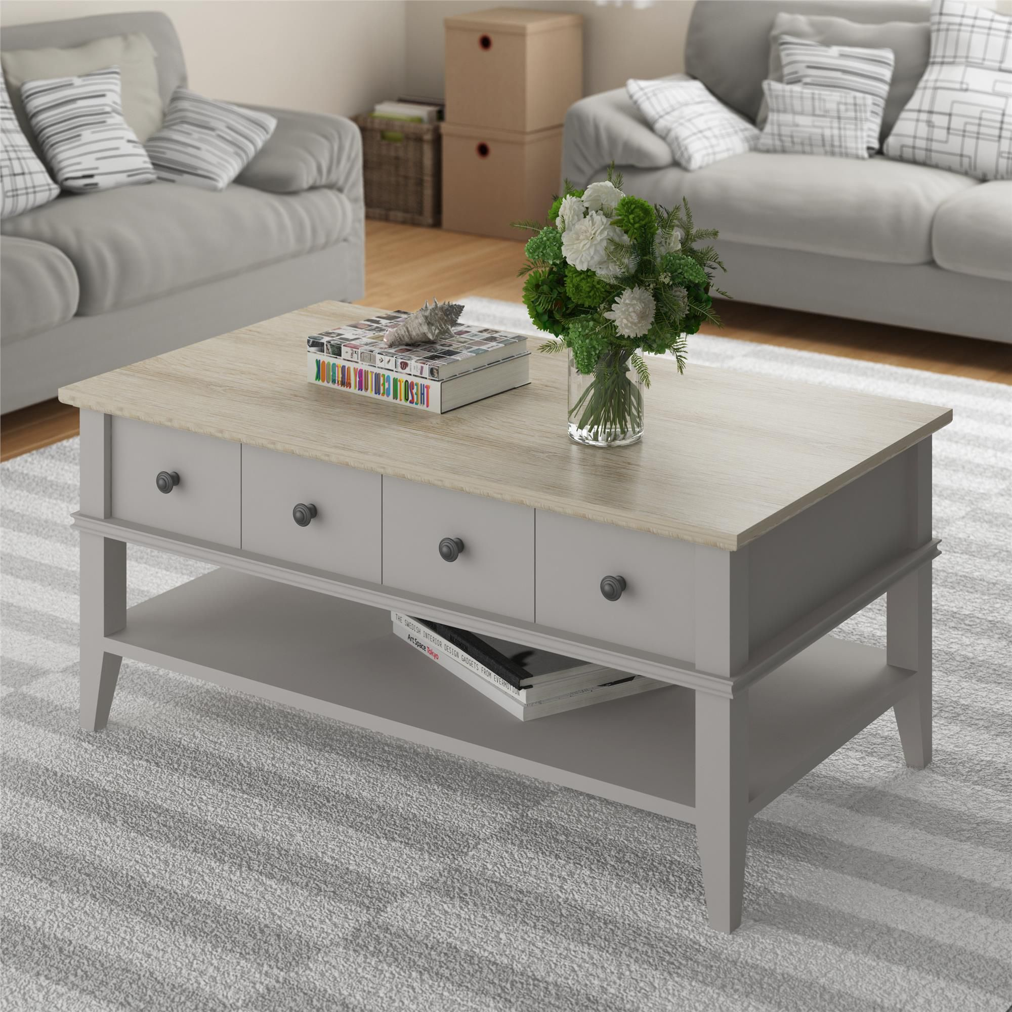 Pin By Cherie Stringer On Furniture Coffee Table Coffee Table With Storage Sofa End Tables [ 2000 x 2000 Pixel ]