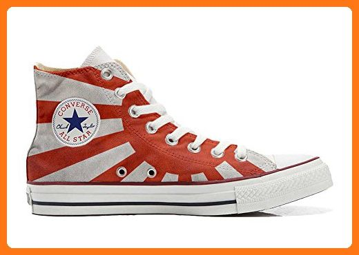 Converse All Star Hi Customized personalisierte Schuhe (Handwerk Schuhe) Japan-Flagge