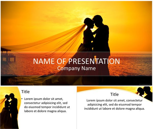Wedding PowerPoint Template Holiday \ Special Occasion - wedding powerpoint template