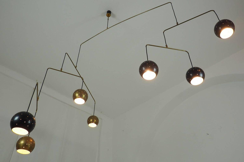 Italian poetic mobile brass chandelier