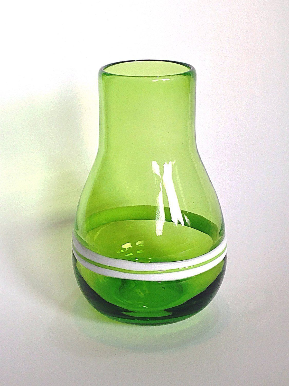 Vintage green glass vase milk glass stripes smooth tall green vintage green glass vase milk glass stripes smooth tall green vase mid century reviewsmspy