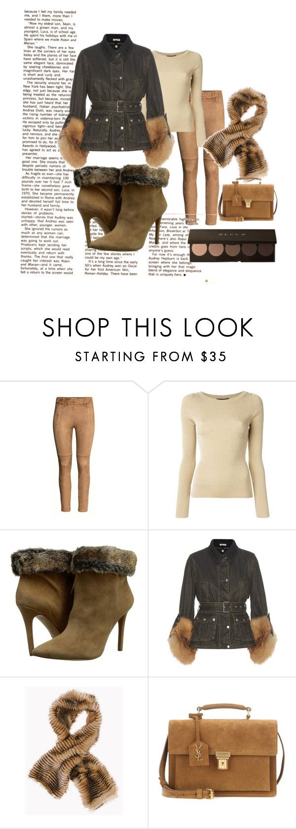 """""""Winter fab"""" by nurinur ❤ liked on Polyvore featuring H&M, Dolce&Gabbana, Jessica Simpson, Miu Miu, Chico's and Yves Saint Laurent"""