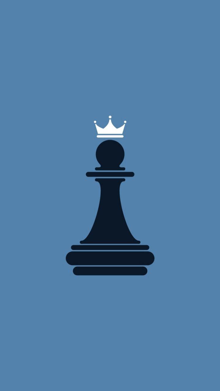 King, chess, sports, game, minimal, 720x1280 wallpaper