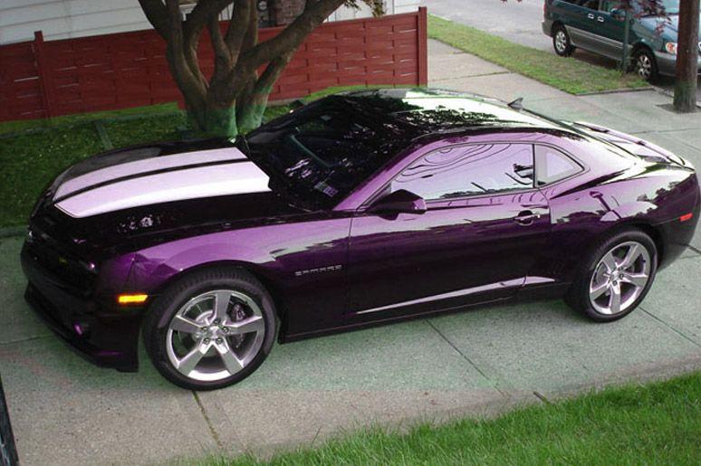Purple Camaro 2014 Picture me rollin.... on