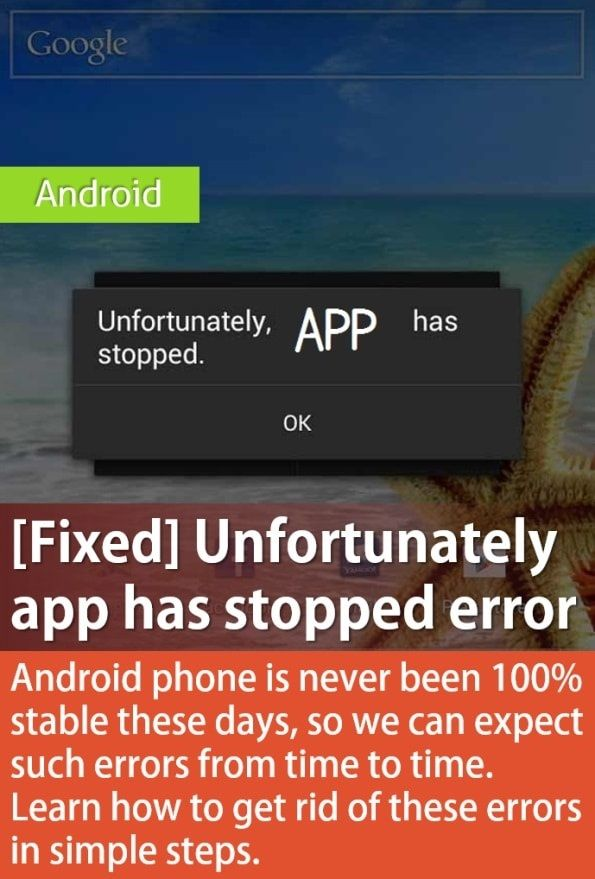 [SOLVED] Unfortunately, App Has Stopped Errors 2020