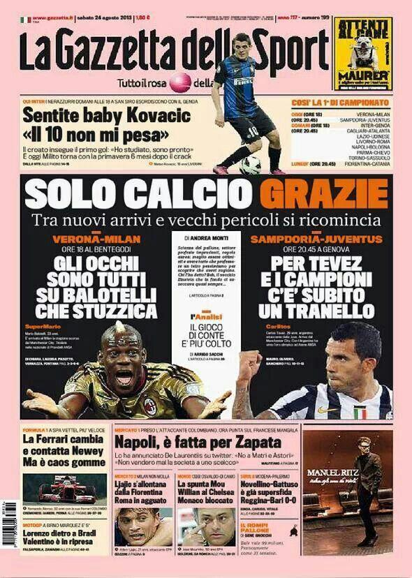 #PrimeraPlana @La Gazzetta dello Sport de hoy Sábado.