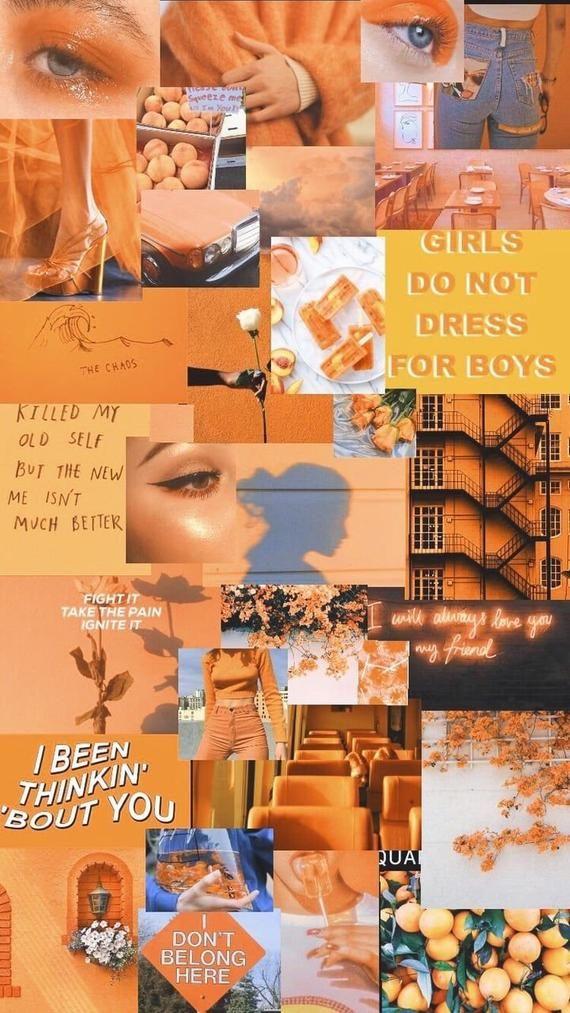 Orange photo collage