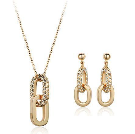 Новейшие разработки золота свадебный комплект ювелирных изделий позолоченный 18 К золотые украшения для партии