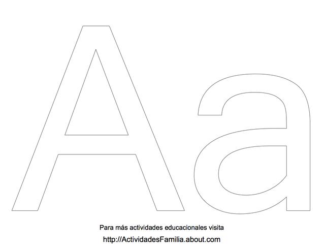Abecedario para colorear Letra A para colorear  Letras  Pinterest