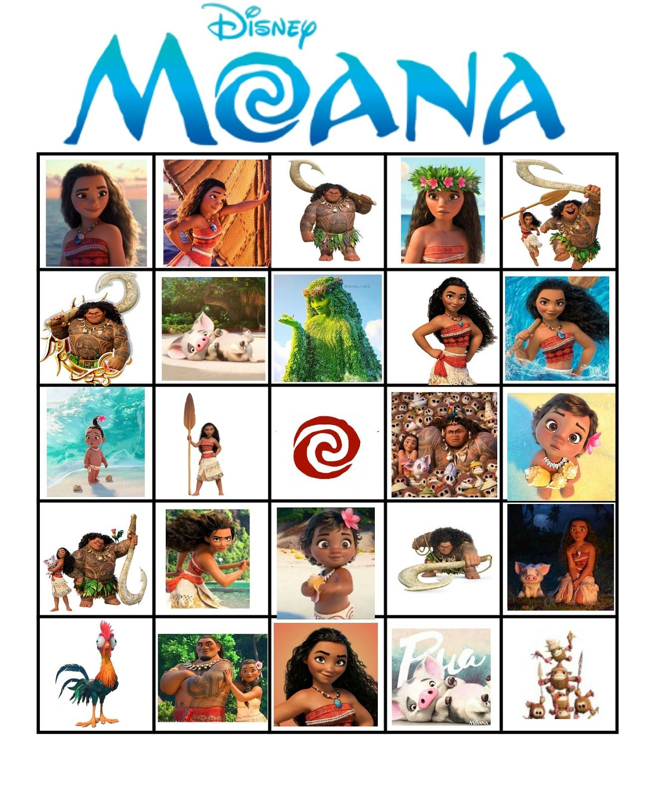 Free Printable Moana Activities Birthday GamesMoana PartyMoana