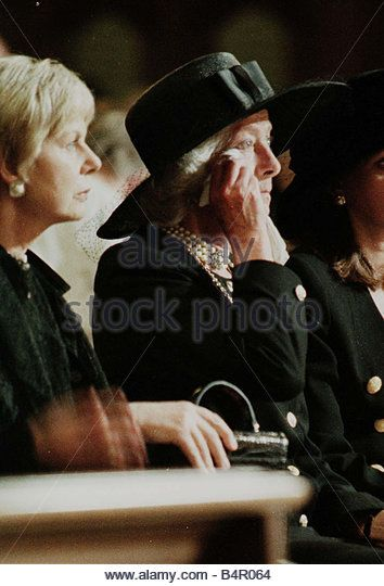 Princess Diana death 31 august 1997 Duchess of Kent to the left of Frances Shand…