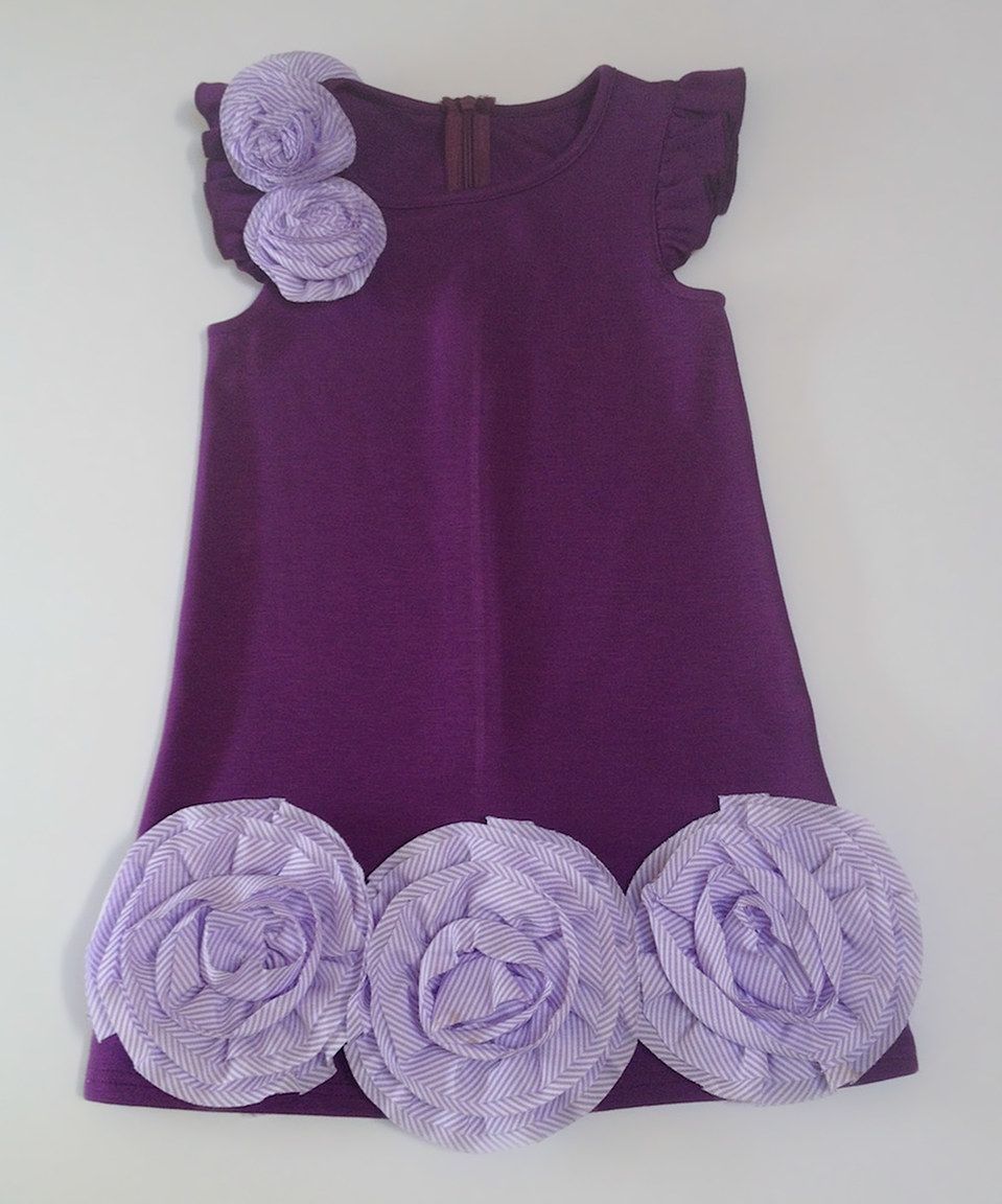 This Twindollicious Purple Rosette Dress - Infant, Toddler & Girls by Twindollicious is perfect! #zulilyfinds