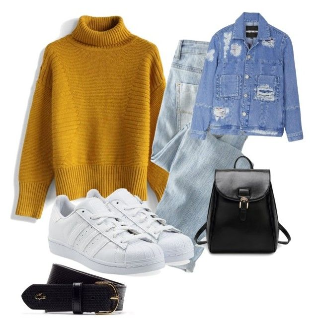 """""""Mom"""" by nicola-r-m ❤ liked on Polyvore featuring Chicwish, Wrap, House of Holland, Lacoste and adidas Originals"""