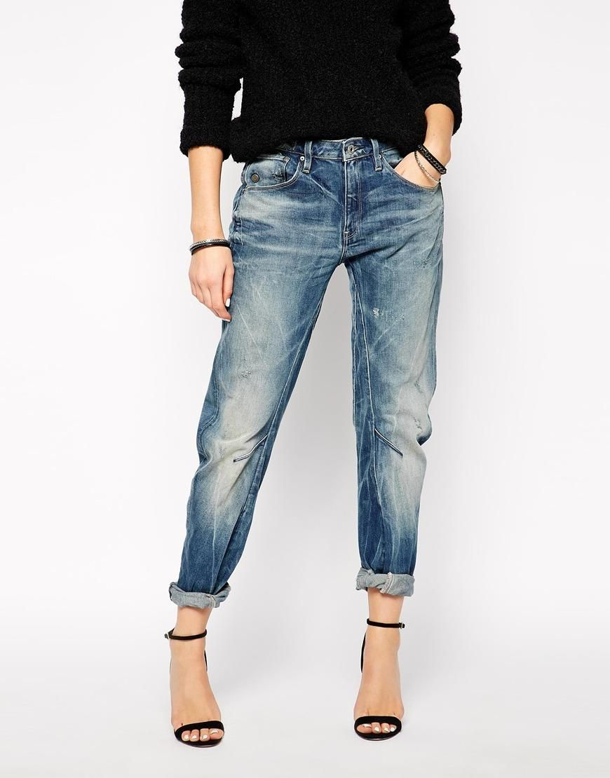 G Star G Star Arc 3d Boyfriend Jeans At Asos Outfit Ideen Outfit Kleidung