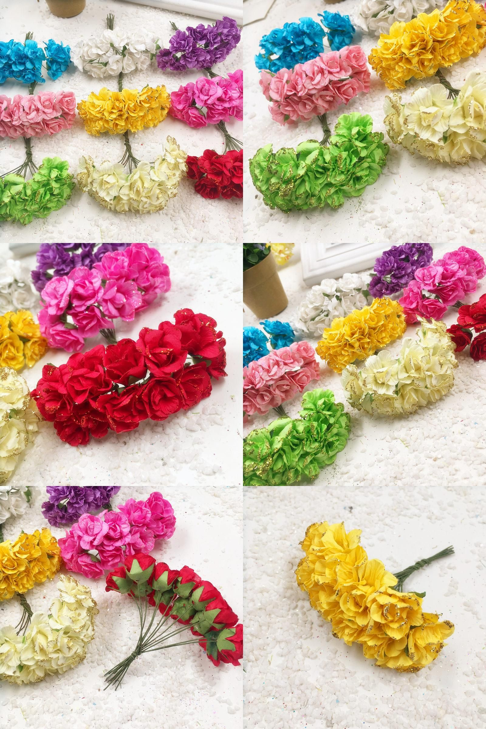 Knitted wedding decorations  Visit to Buy  PCS cm artificial flash paper flowers peony