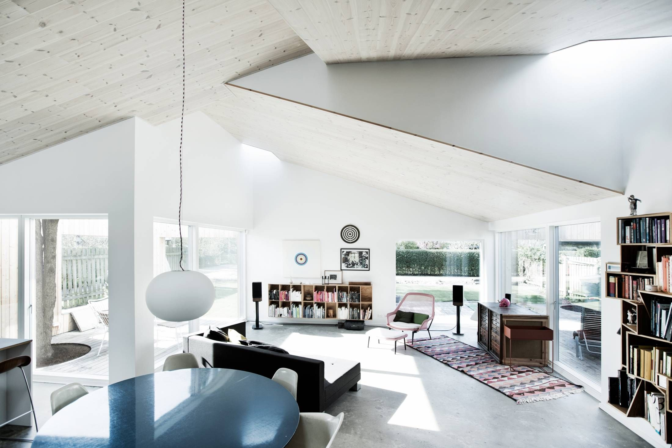 Modern house with wild roof is all about the light curbedclockmenumore arrow each shed like roof features a skylight