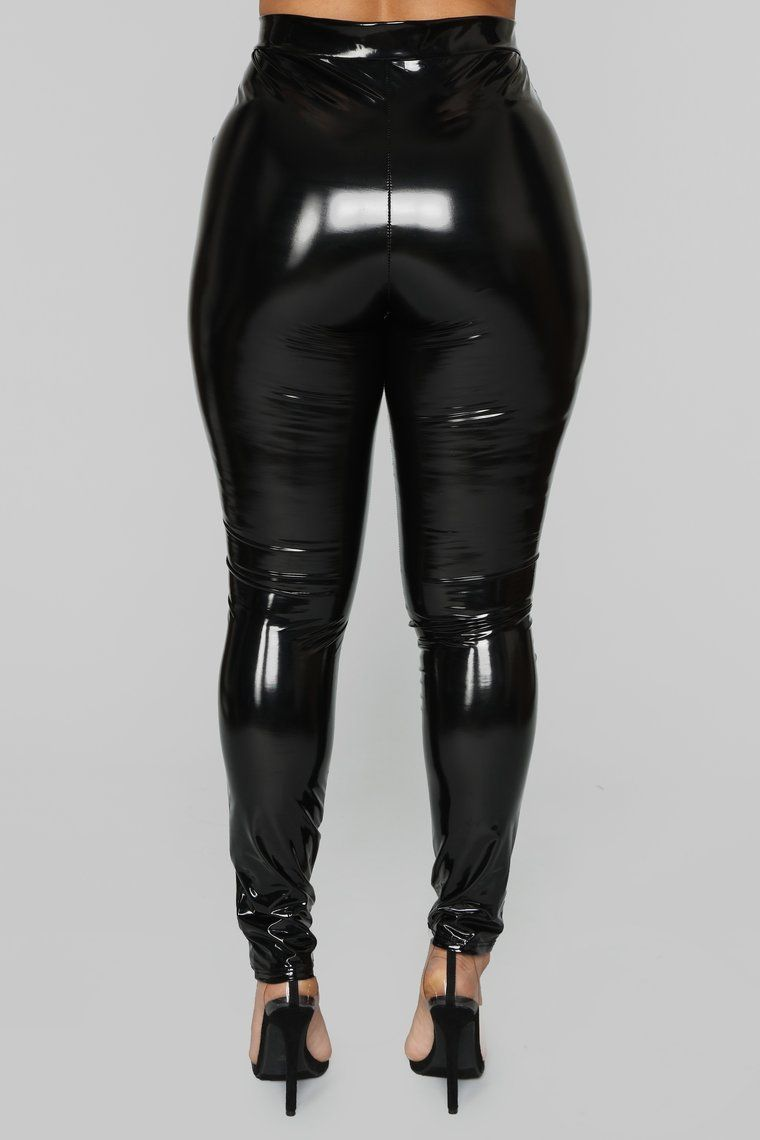df58837556351 Late Night Texts Vinyl Pants - Black in 2019 | Fashion Nova Black/White
