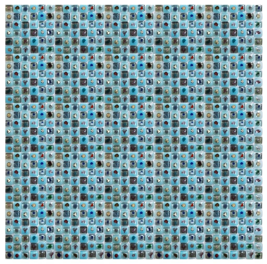 Turquoise Fused Glass Eco Mosaic http://www.ecomosaic.co.uk by Aiste Petra #design #eco #mosaic #glass
