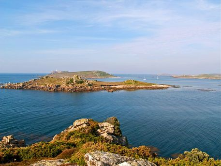 'The Isles of Scilly 2' an early evening view from the Island of Tresco near Cornwall in south west England.