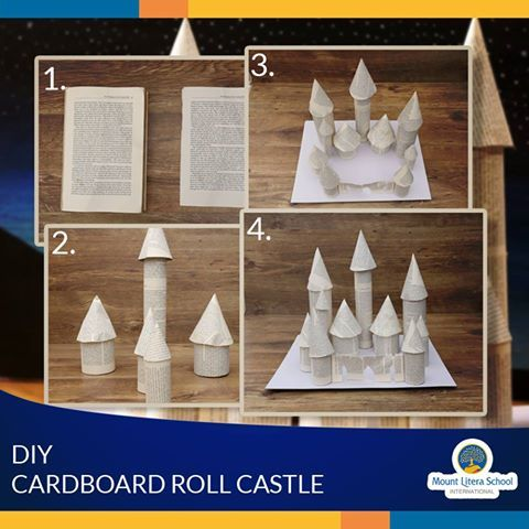 Make a castle for your daughter by reusing old books paper for How to reuse old books