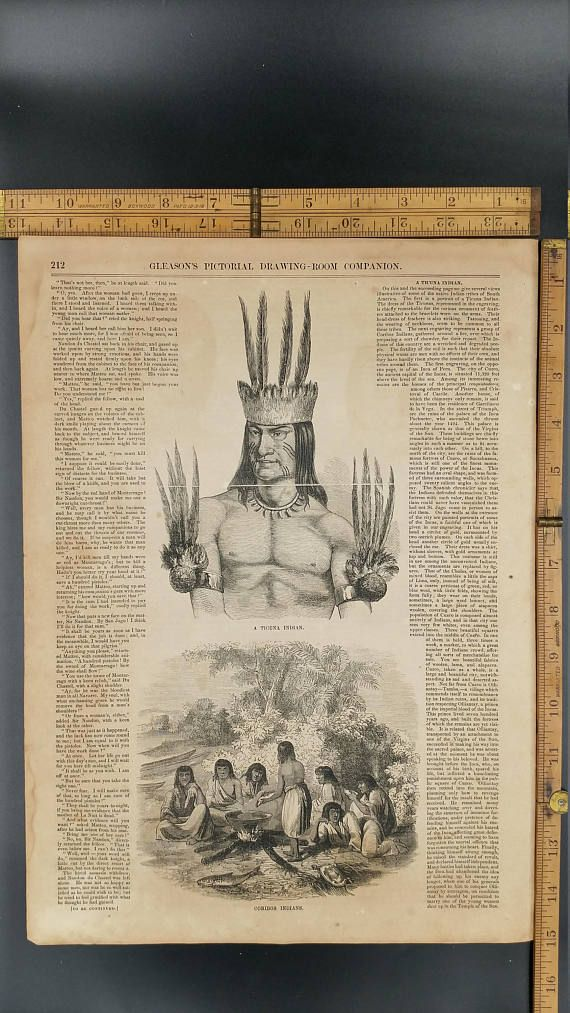 A Ticuna Indian 1854 Coribos Indians South