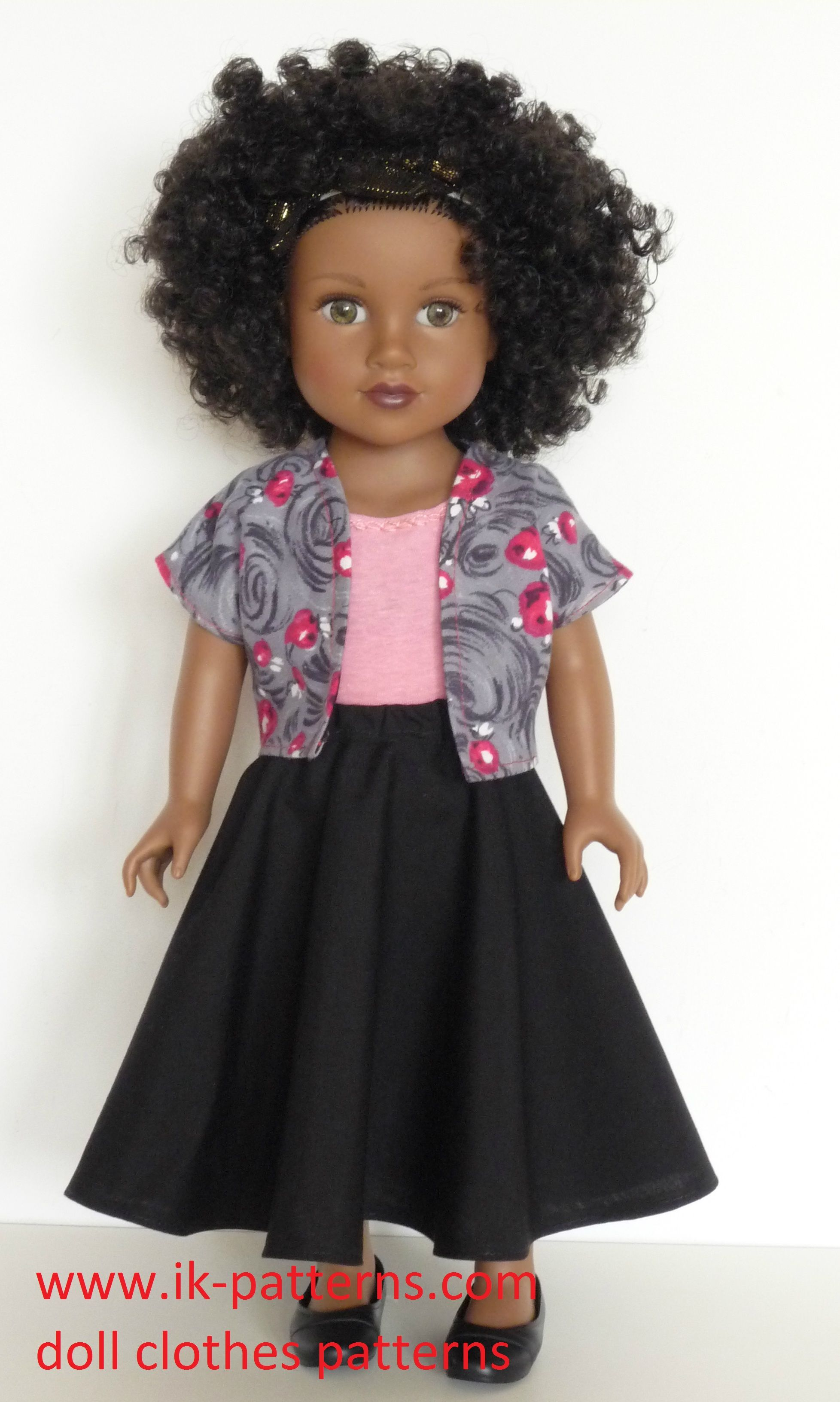 Skater Skirt with Jacket Patttern for Journey Girls doll. 18 inch ...