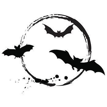 714543c5e84ec bat-moon-tattoo.jpg Bird Stencil, Halloween Pumpkins, Superhero Logos,