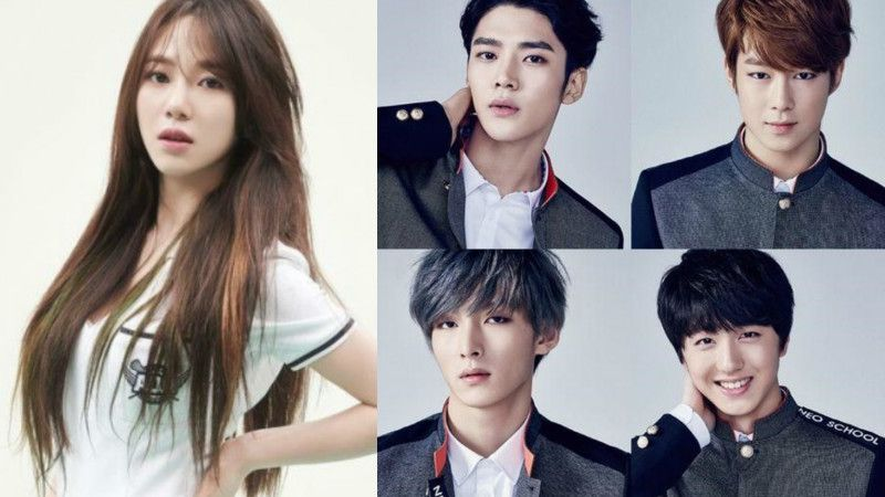 Aoa S Mina And Neoz School Trainees Confirmed For Fnc Entertainment S Web Drama Click Your Heart Web Drama Fnc Entertainment