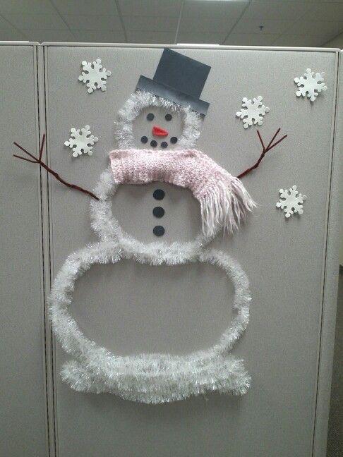 Cubicle Snowman Christmas Cubicle Decorations Office Christmas Decorations Christmas Cube Decorations