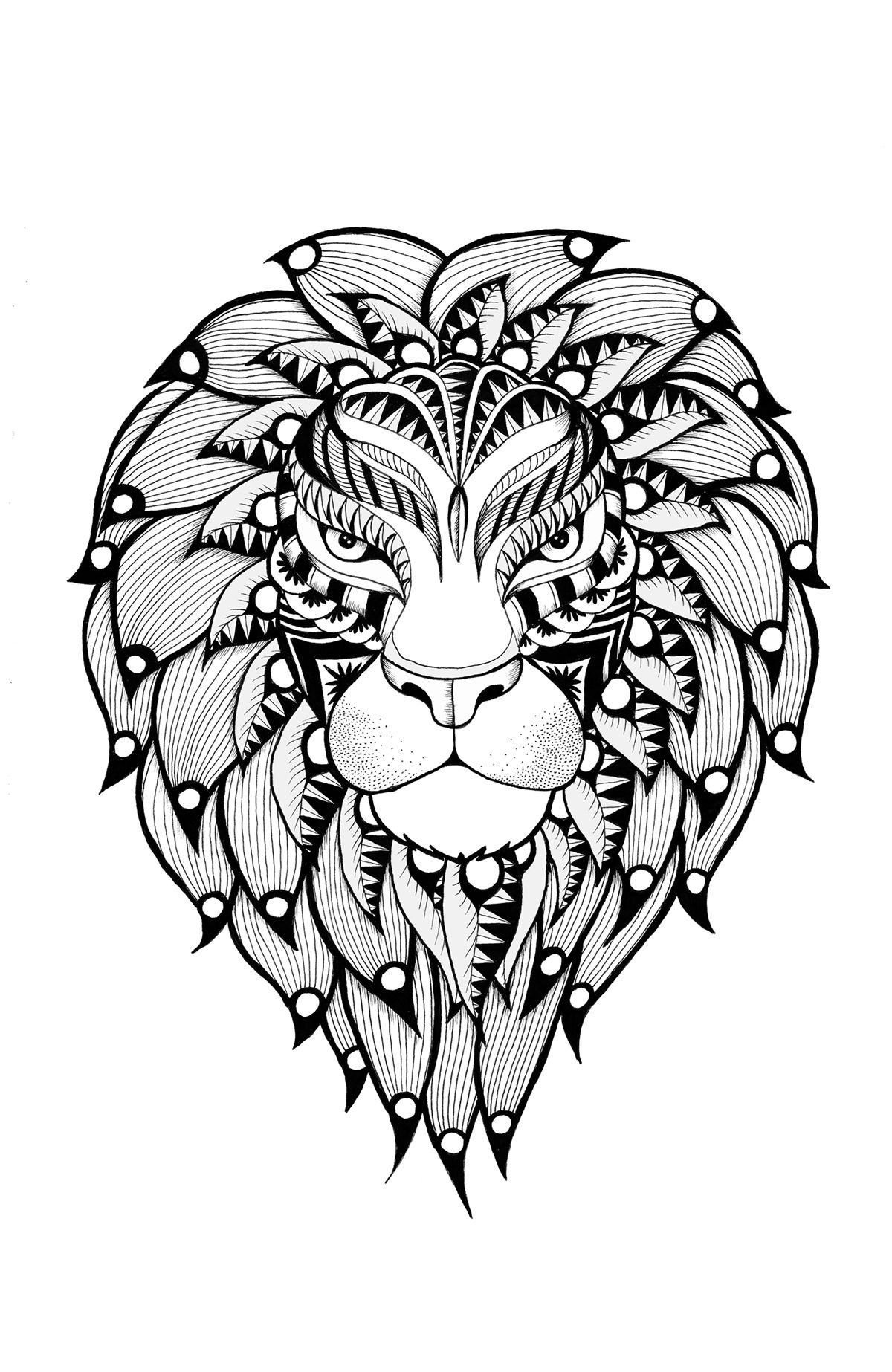 Wild animals coloring pages on Behance
