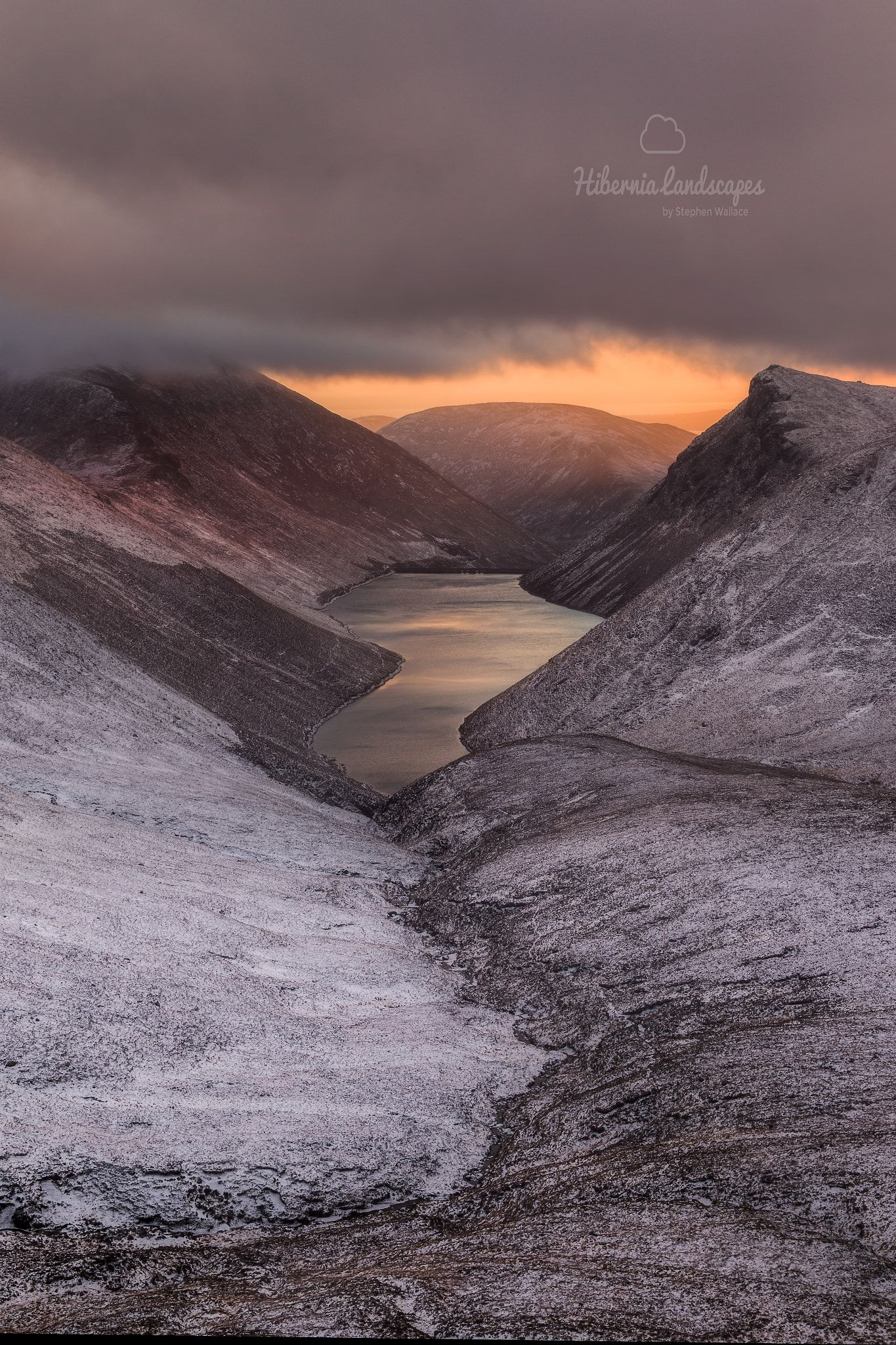 Ben Crom Sunset In The Ben Crom Valley In The Mourne Mountains Co Down Www Hibernialandscapes Com Landscape Photography Landscape Photos Landscape