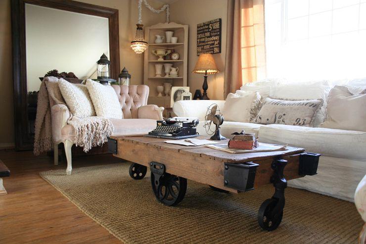 Table Basse En Bois Au Design Rustique Et Original Pour Un Séjour