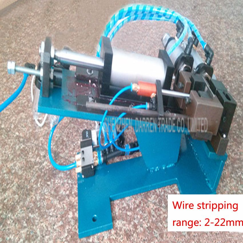 1PC DZ-315 Hot sale Semi-auto&Pneumatic Wire/Cable Cutting Stripping ...