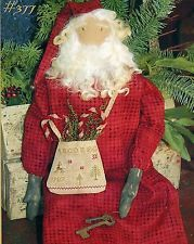 New Craft Sewing Pattern by Country Stitches:  North Woods St. Nick (Santa Doll)