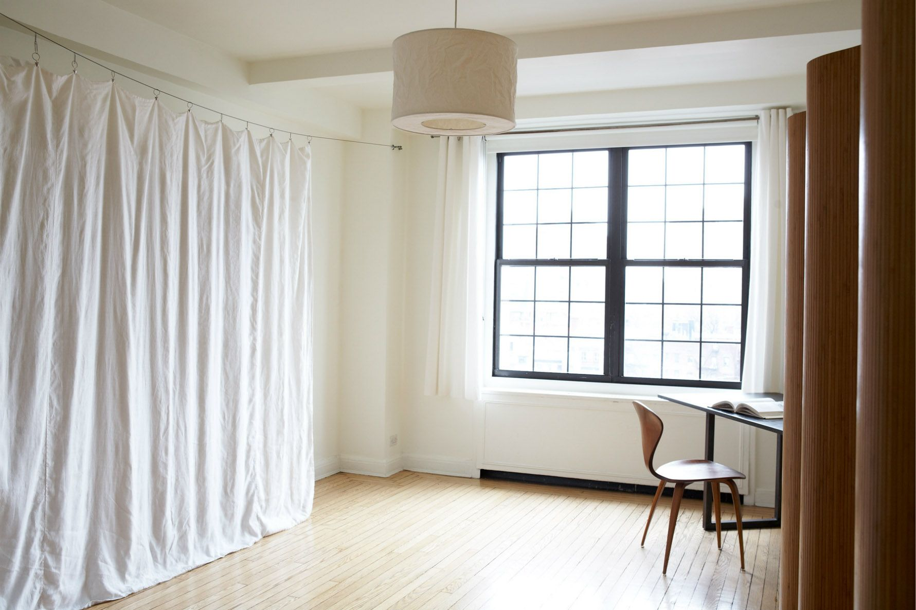 Good Interior Furniture Curtains Decorations Attractive Curtain Room  Dividers Target With White Drums Shade Hanging Lamps In White Rooms Design  Also Simple ...