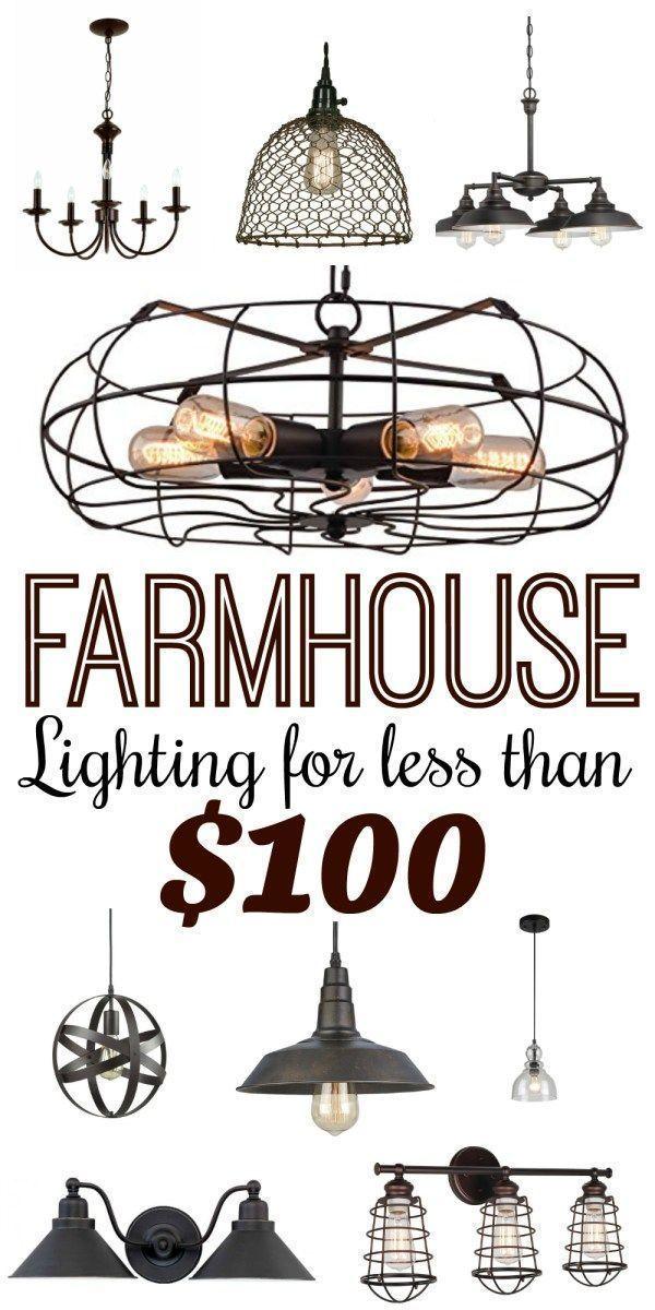 Modern farmhouse style lighting for less than 100