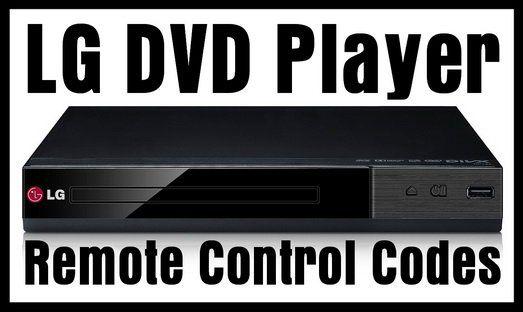 LG DVD Player Remote Control Codes Coding, Remote