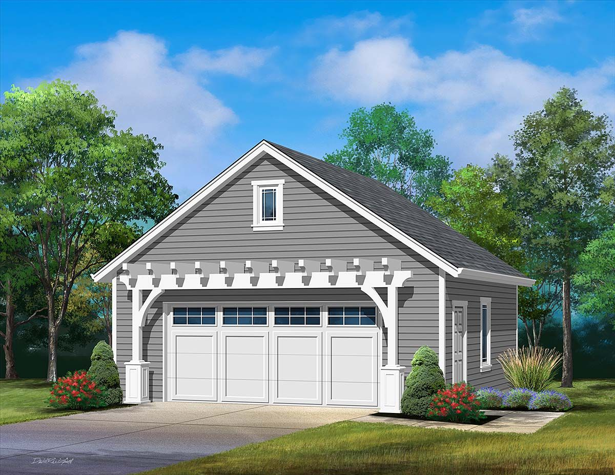 2 Car Garage Plan Number 45181 in 2020 Garage plans
