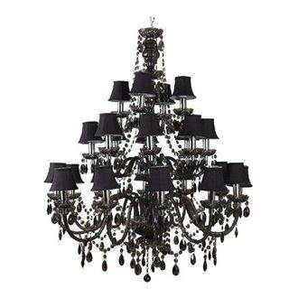 lustre baroque 24 branches en acrylique