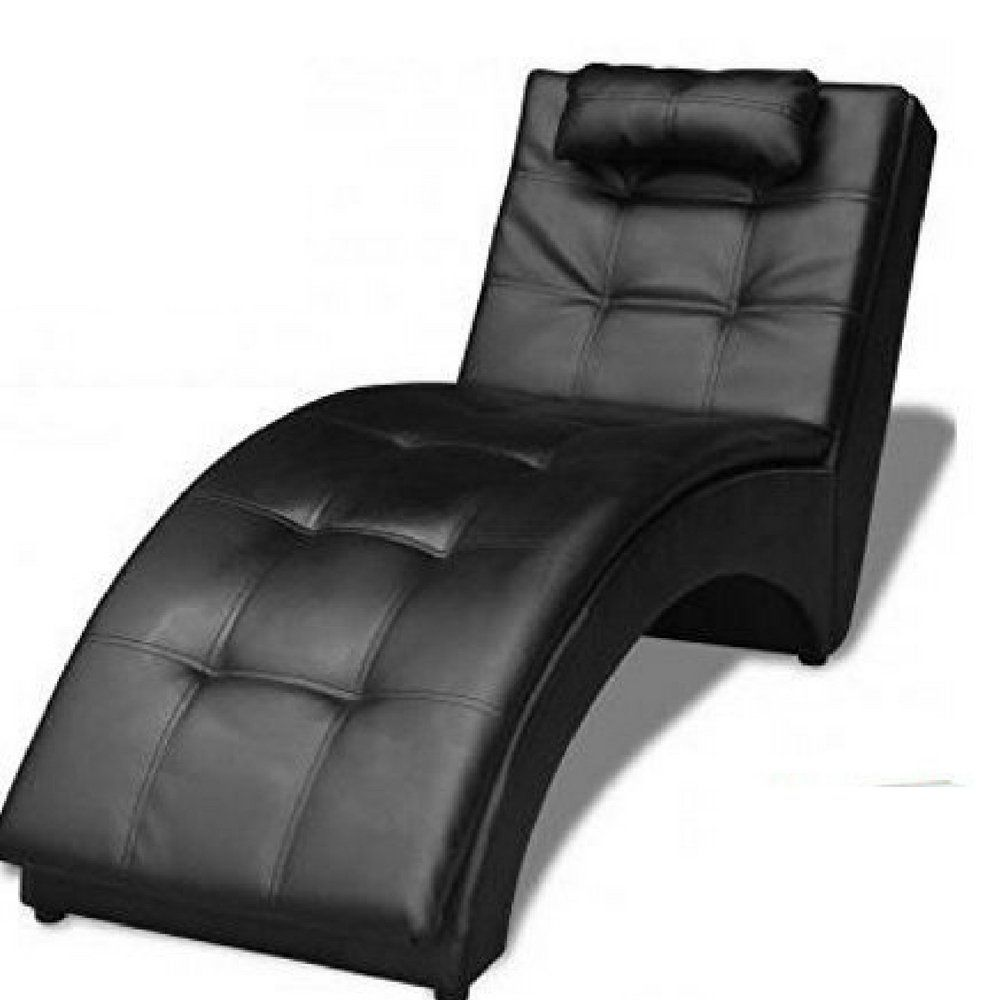 - ATS Indoor Chaise Lounge Chair Black Furniture Modern Large